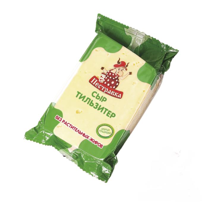 Сыр полутвердый Пестравка Тильзитер 45% бзмж 200 г