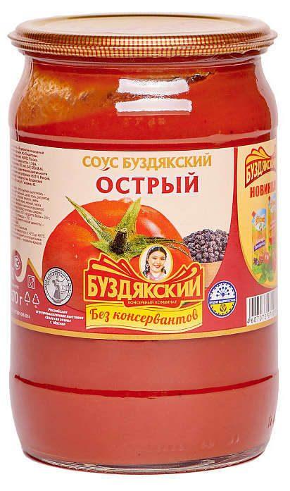 Соус Буздякский  Острый  670 гр.