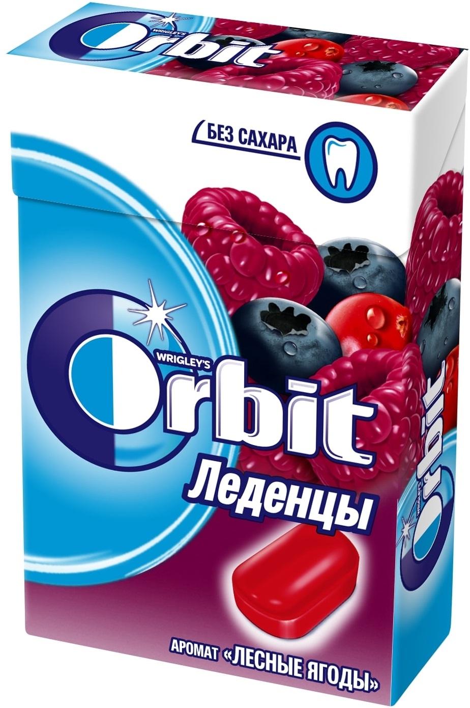 Леденцы  Орбит  лесные ягоды 35гр.