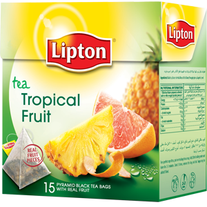 Чай  Липтон Tropical Fruit  20*1.8гр.
