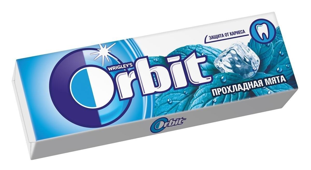 Жевательная резинка  Орбит  прохладная мята 13.6 гр.
