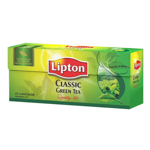 Чай  Липтон  зеленый классический 25*2гр.
