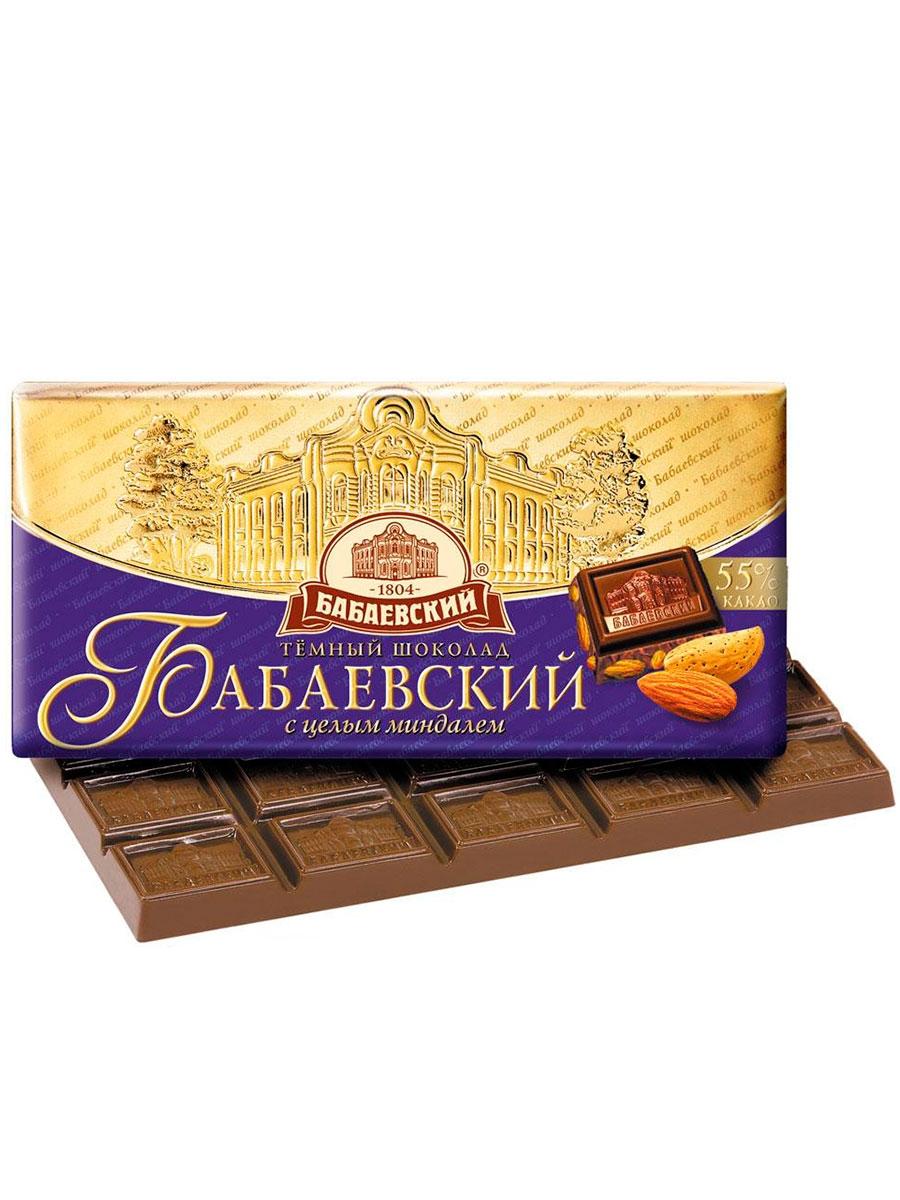 Шоколад  Бабаевский  темный с целым миндалем 200гр.