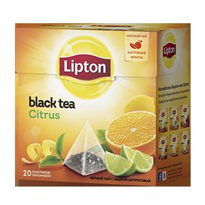 Чай  Липтон  с цедрой цитрусовых 20*1.8гр