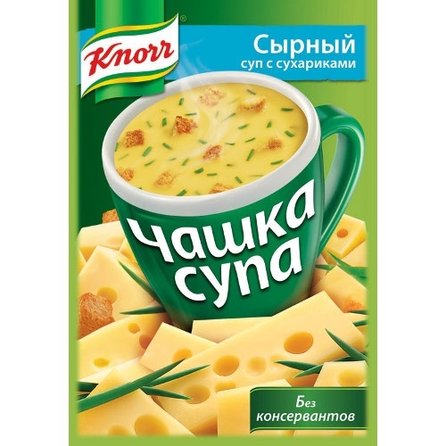 Чашка супа  Кнорр  сырный с сухариками 15.6гр.
