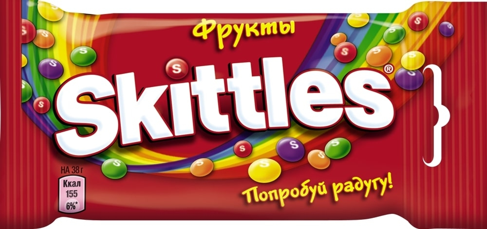 Жевательные конфеты в глазури  Скиттелс  Фрукты 38гр.