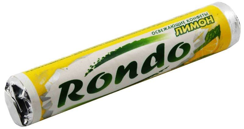 Освежающие конфеты  Рондо  лимон 30гр