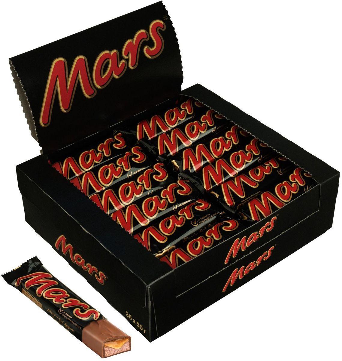 Шоколадный батончик  Марс  50гр