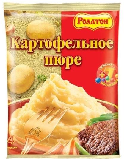 Пюре картофельное  Роллтон  в пакете 120гр.