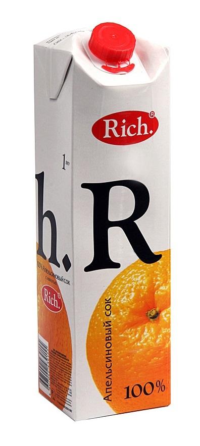 Сок  Рич  апельсин 1л.