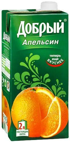 Нектар  Добрый  апельсин 2л
