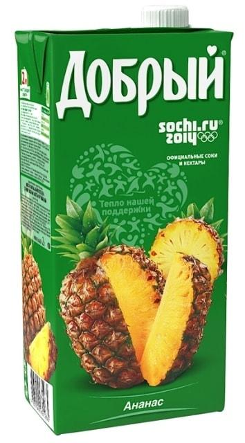 Нектар  Добрый  ананас 2л.