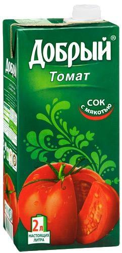 Сок  Добрый  томат с солью 2л