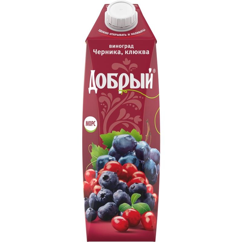 Морс  Добрый  виноград/клюква 1л.