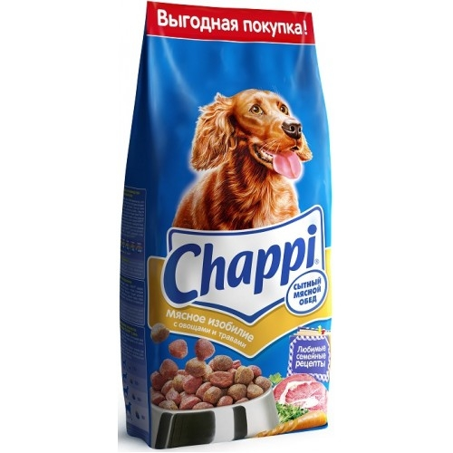 Сухой корм  Чаппи  сытный мясной обед мясное изобилие 2.5кг