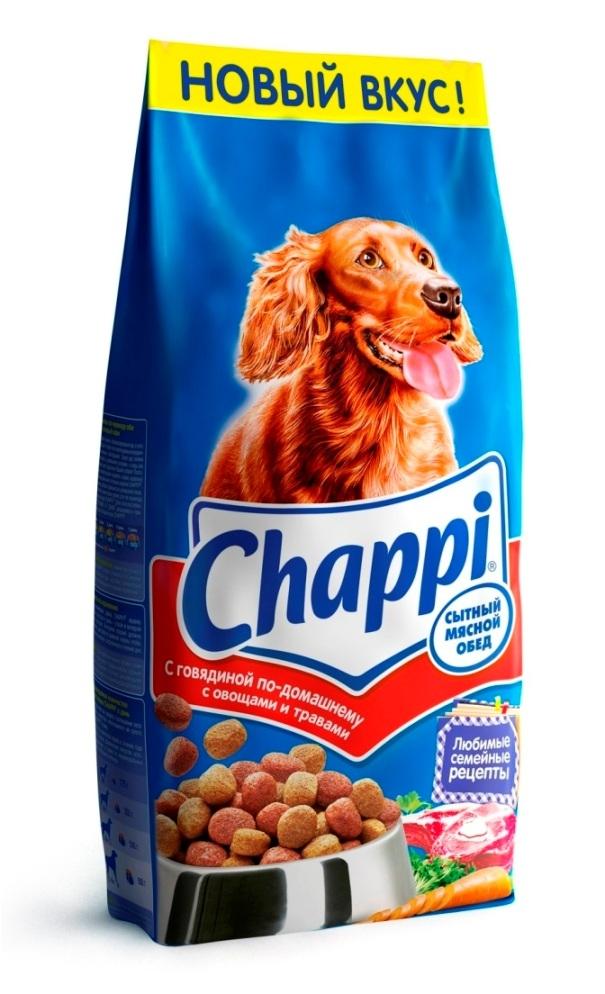 Сухой корм  Чаппи  говядина по-домашнему 15кг.