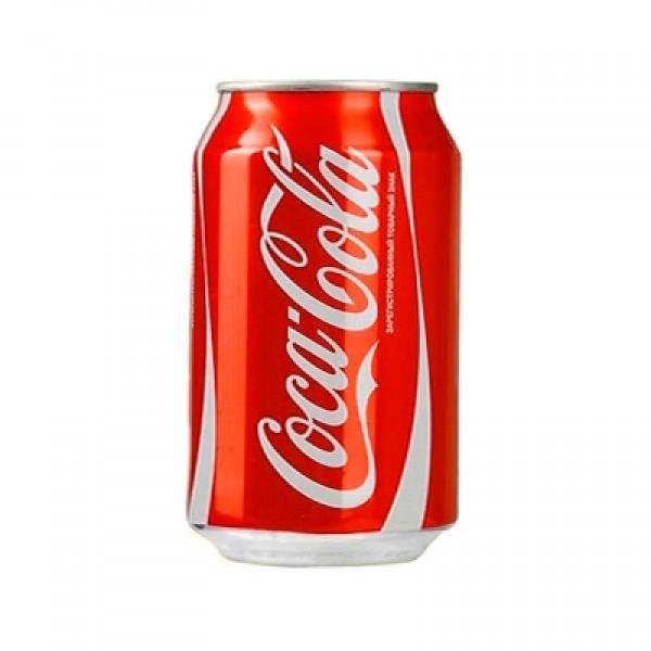 Газированная вода  Кока-кола  0.33л ж/б