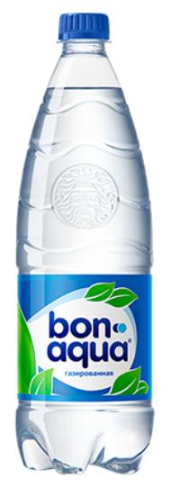 Вода питьевая сильногазированная  Бон Аква  1л
