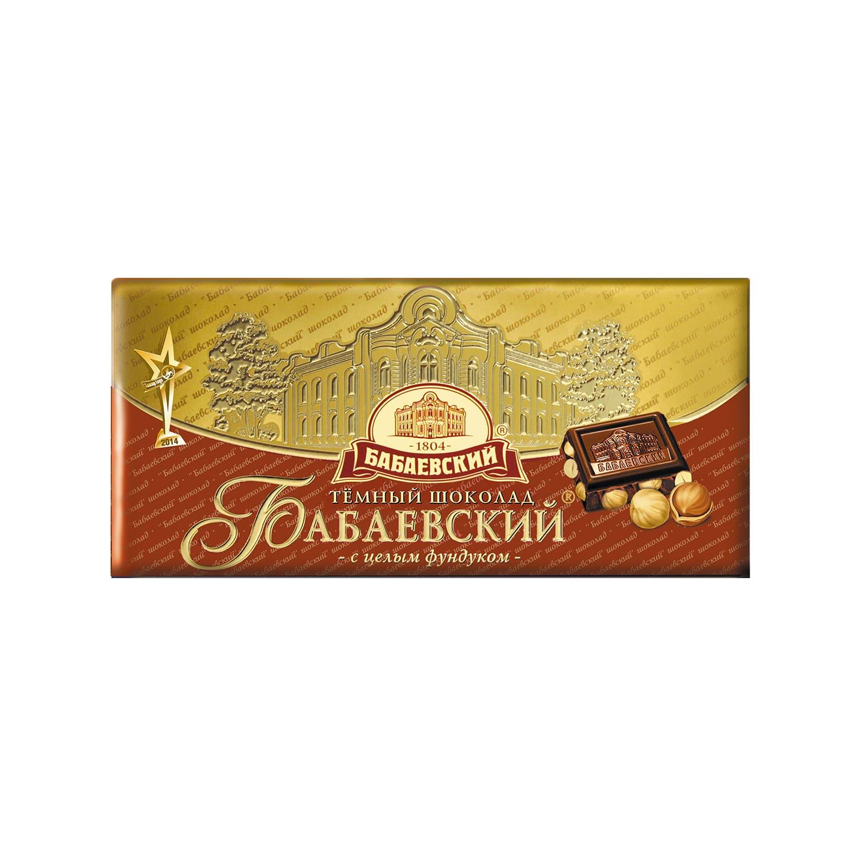 Шоколда  Бабаевский  темный с фундуком 100гр.