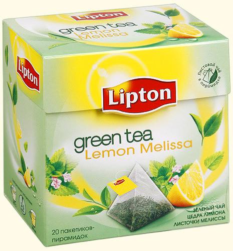 Чай зеленый  Липтон  лимон и мята 20шт*1.6гр.