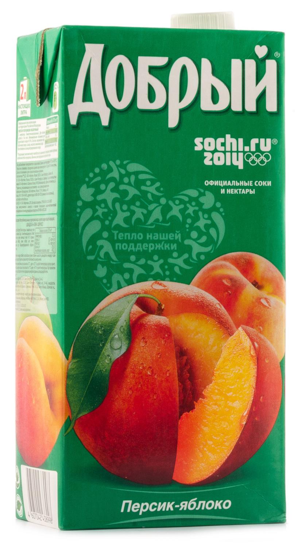Нектар  Добрый  персик-яблоко 2л