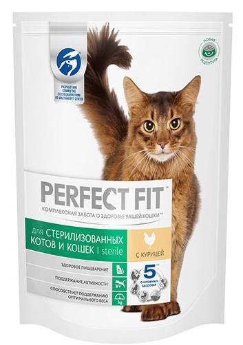 Сухой корм  Перфект Фит  для стерилизованных кошек с курицей 190 гр