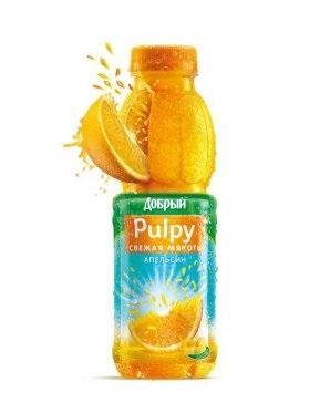 Нектар  Добрый Pulpy  апельсин с мякотью 0.45 л