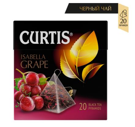 Чай Curtis 'Isabella Grape' черный ароматизированный средний лист 20 пирамидок