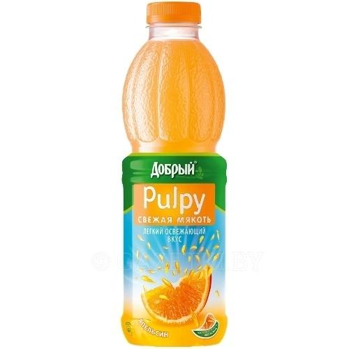 Нектар  Добрый  апельсин с мякотью Pulpy 0.9 л
