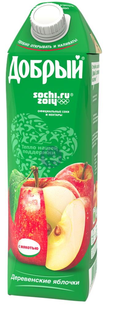 Нектар  Добрый  деревенские яблочки 1л