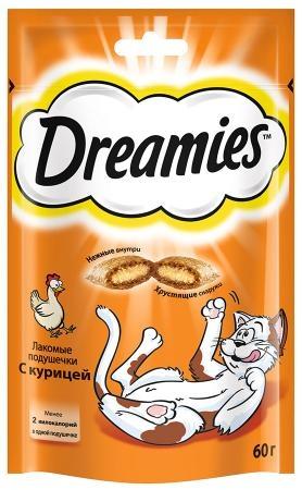 Лакомство для кошек  Dreamies  с курицей 60гр.