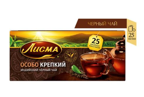 """Чай Лисма Особо Крепкий"""" черный мелкий лист 25 пакетиков"""""""