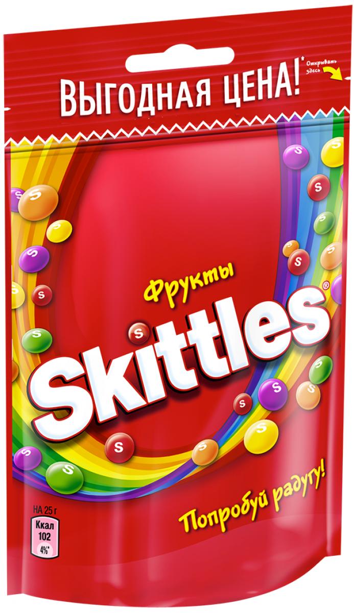 Жевательные конфеты в глазури  Скиттелс  Фрукты 100гр.