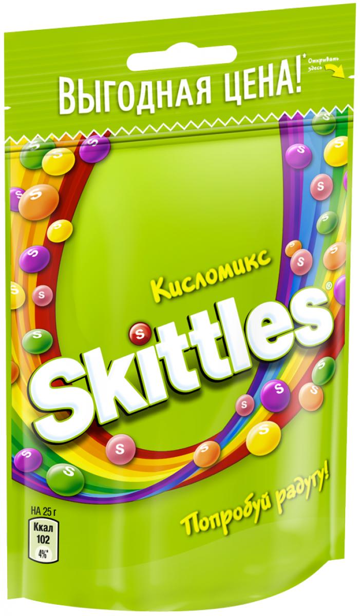 Жевательные конфеты в глазури  Скиттелс  Кисломикс 100гр.