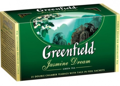 Чай зеленый  Гриндфилд  жасмин 25*2гр.