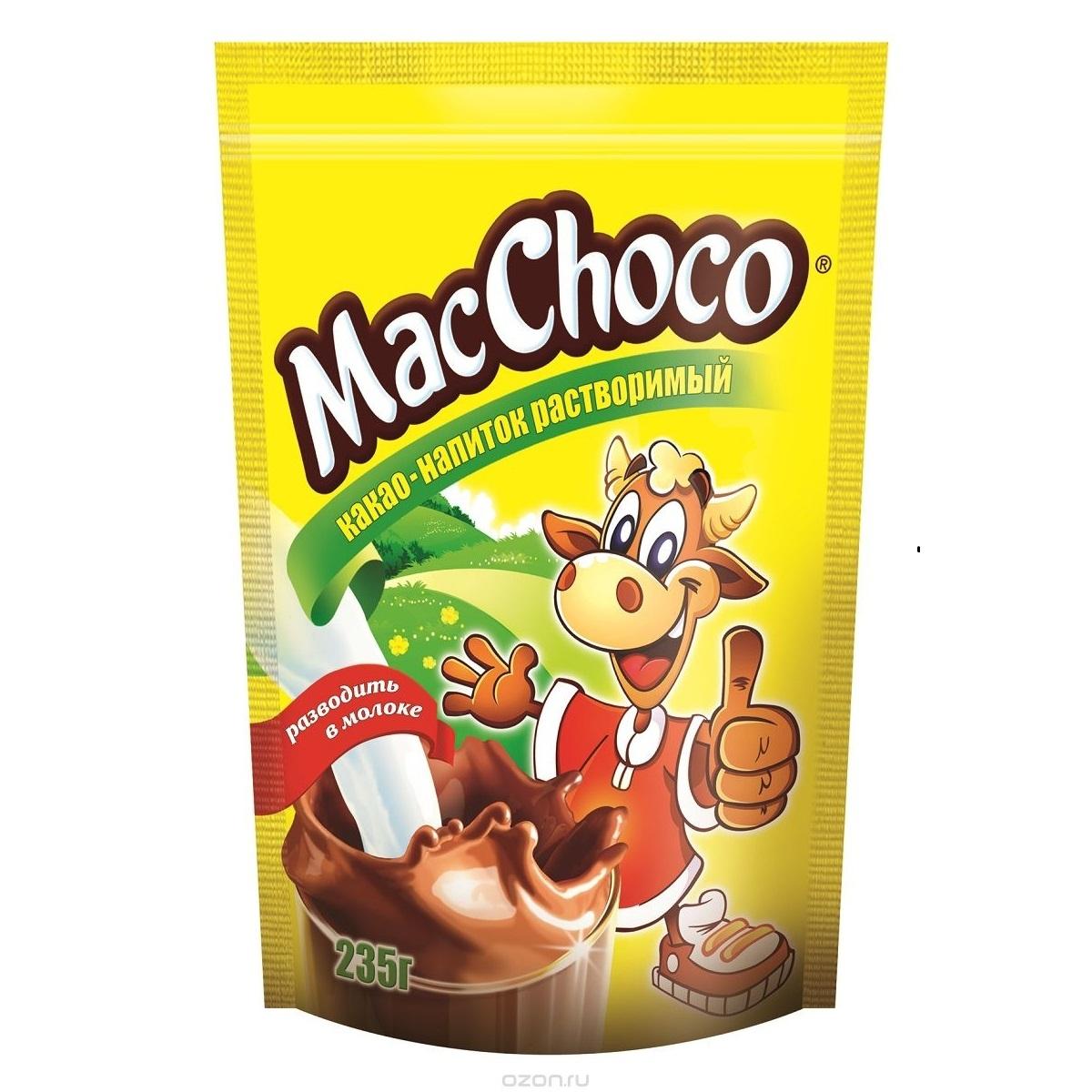 Какао-напиток растворимый  MacChoco  235гр.