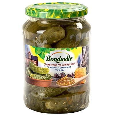 Огурцы по-дижонски с медом и семенами горчицы 720мл.