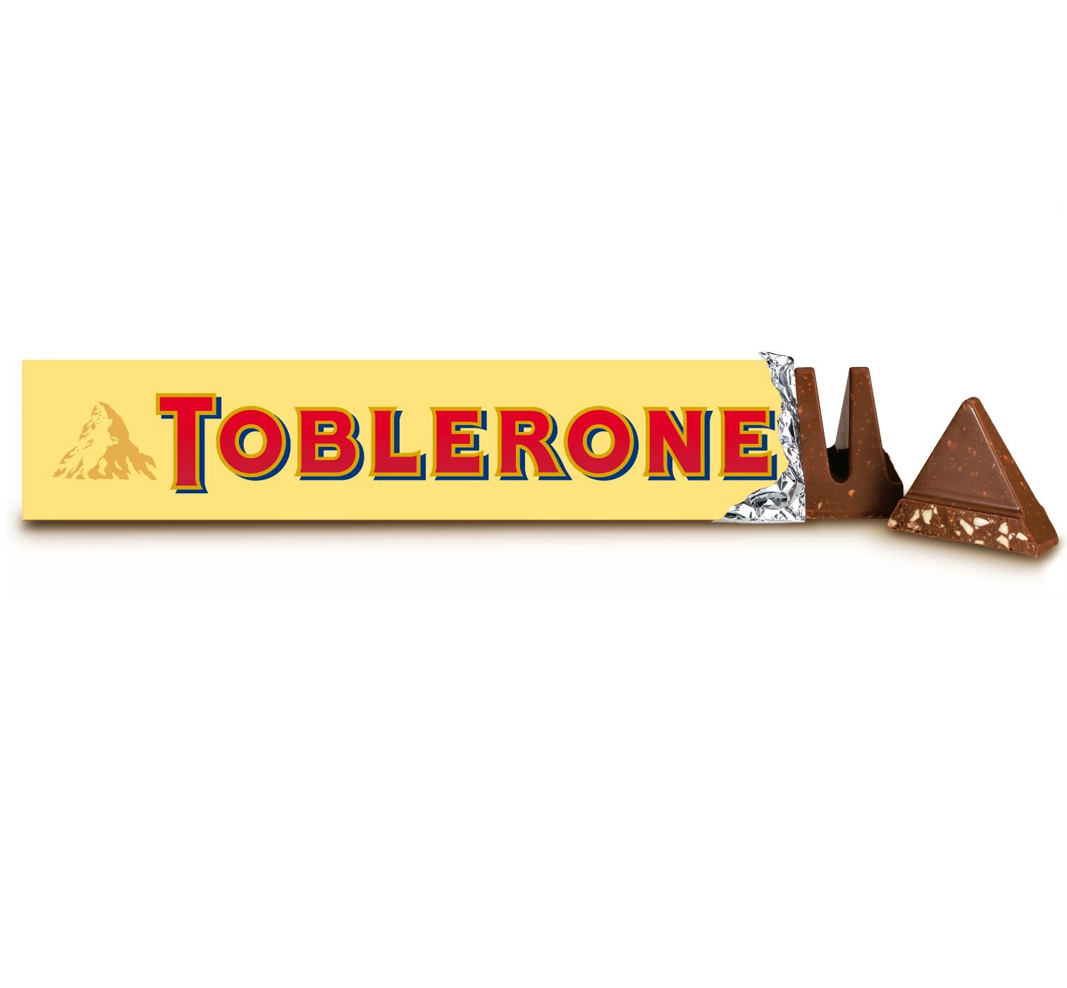 Швейцарский молочный шоколад с медово-миндальной нугой  Toblerone  100гр.