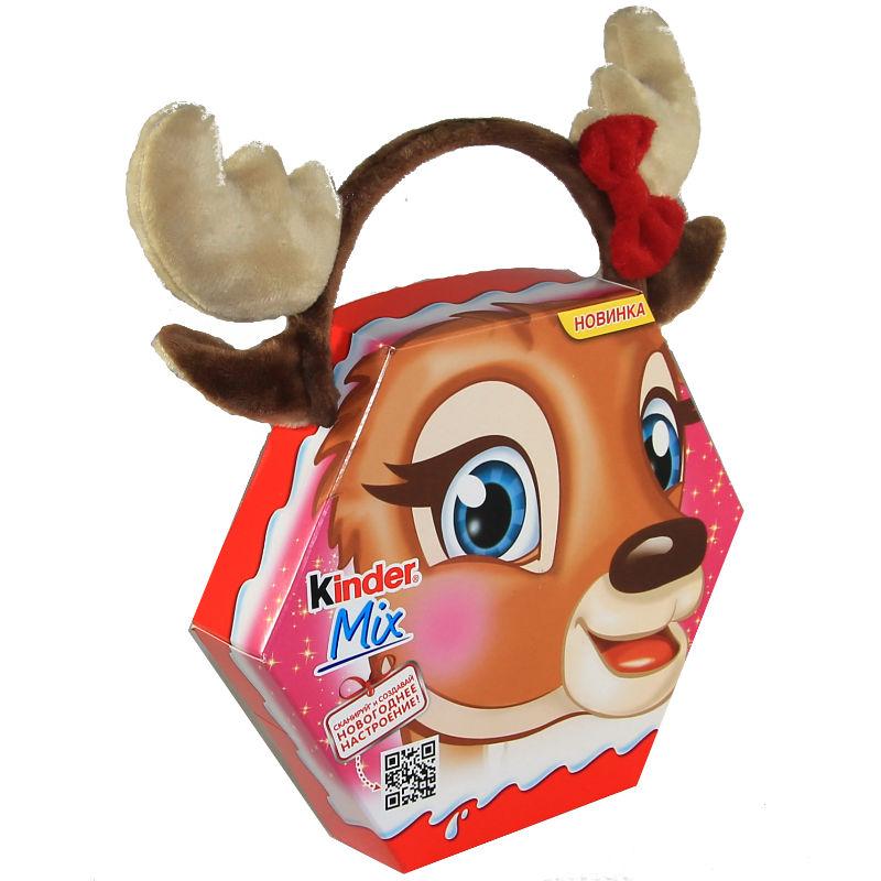 Подарочный набор Kinder Mix с игрушкой Рожки оленя