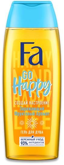 Гель для душ8а Fa создай настроение GO HAPPY 250мл.