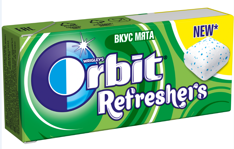 Орбит  REFRESHERS  мята 16гр.