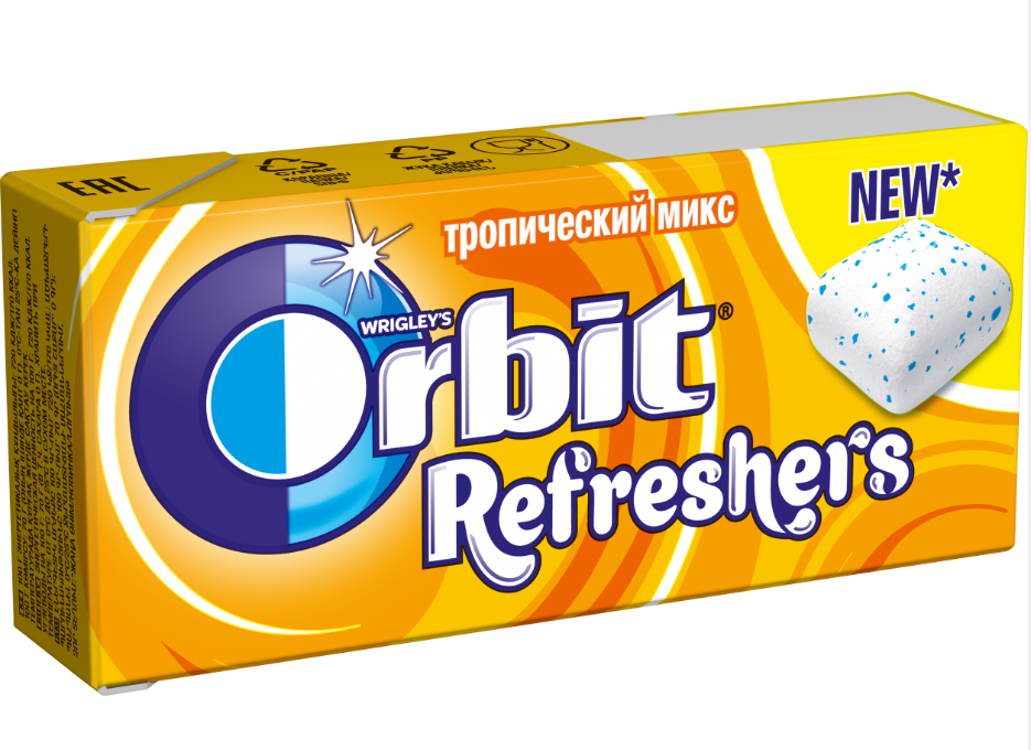 Орбит  REFRESHERS тропический 16гр.