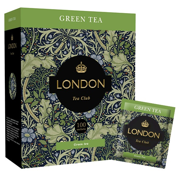 Чай зеленый 'GREEN TEA' ТМ LONDON TEA CLUB 100*2гр сашет