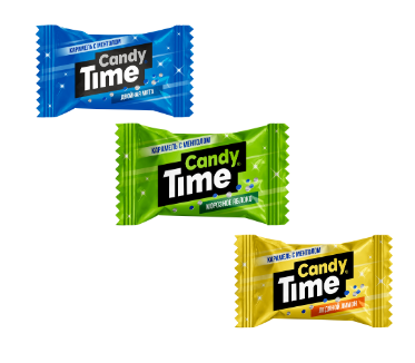Мини-карамель 'Candy time' двойная мята