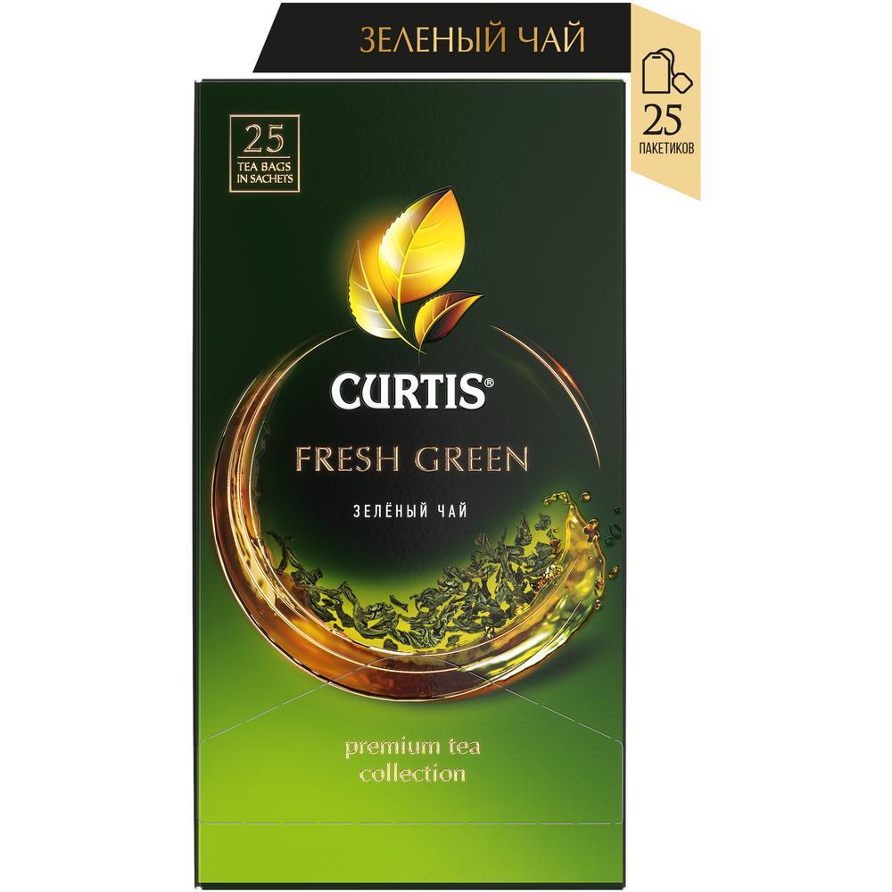 Чай Curtis 'Fresh Green' зеленый мелкий лист 25 сашет