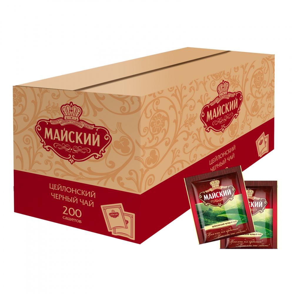 Чай Майский черный с ярлычком (сашет) 2 гр 200 пакетов