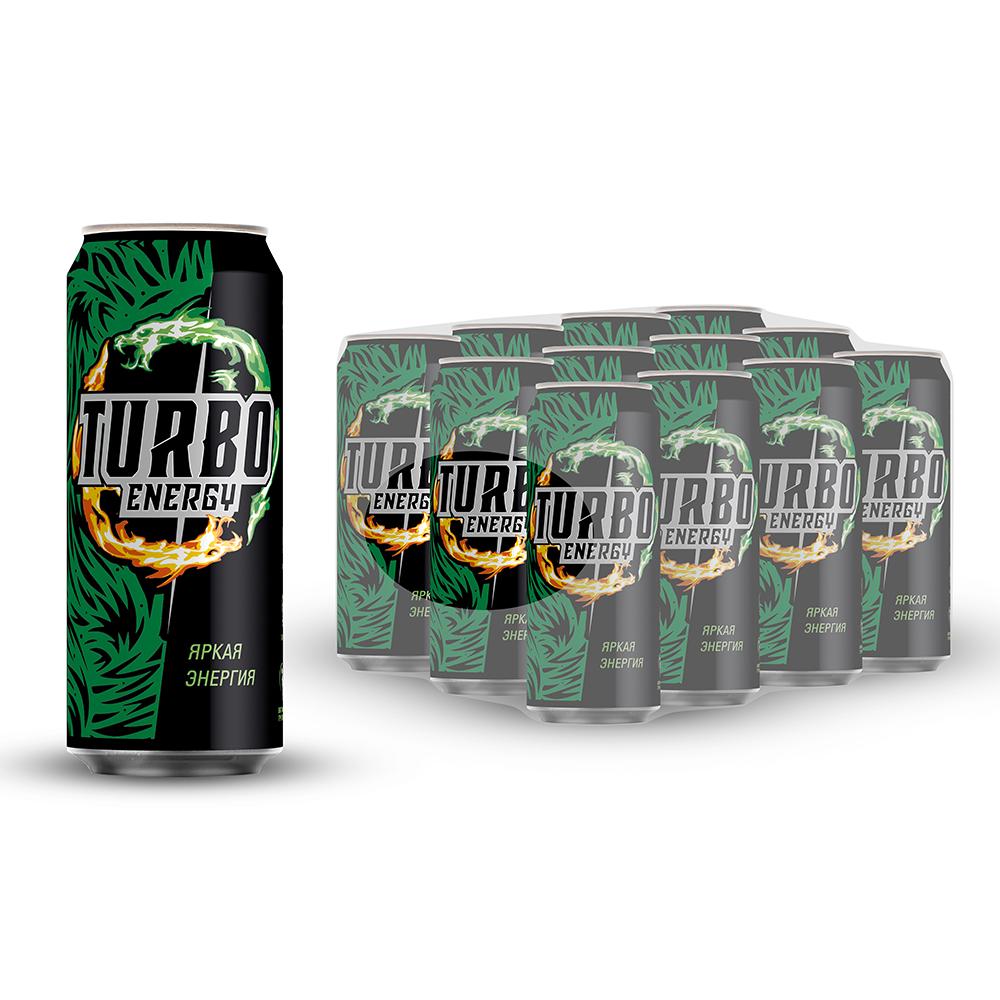 Напиток Турбо Энерджи Яркая Энергия энергетический безалкогольный газированный 0.45 л ж/б