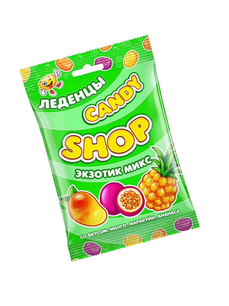 Карамель леденцовая CANDYSHOP ЭКЗОТИК МИКС со вкусом манго