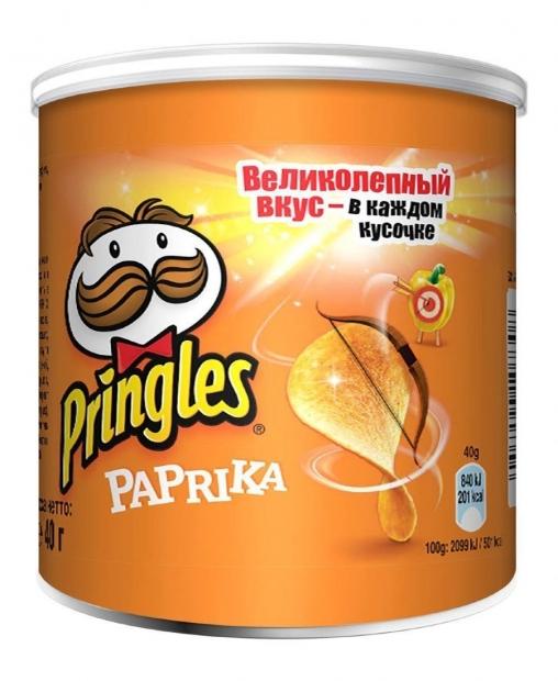 Чипсы Pringles со вкусом паприки 40гр.