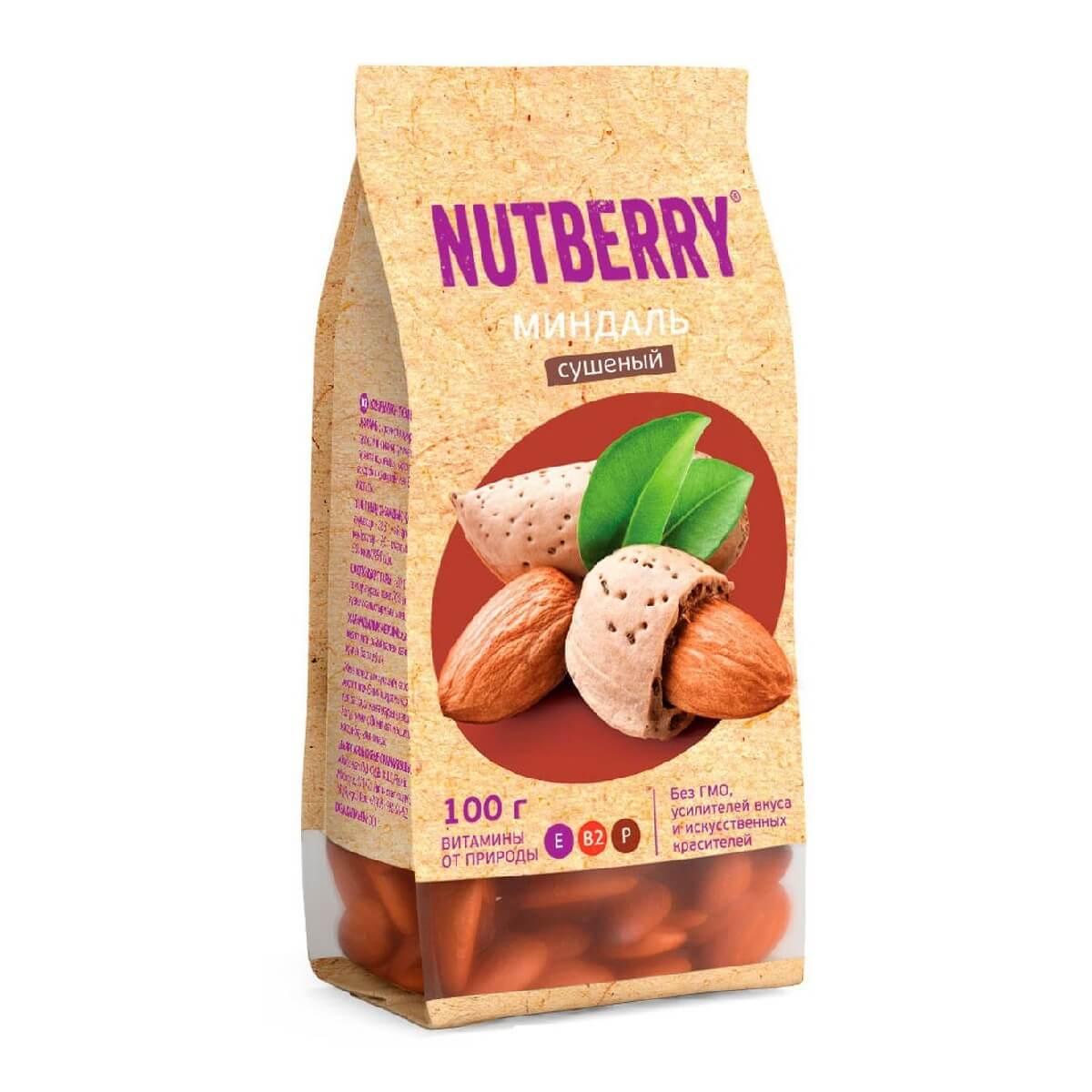Nutberry миндаль сушеный 100гр.